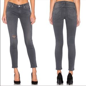 HUDSON Krista distressed ripped skinny jeans